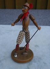 VINTAGE1930s ARTICULATED WOODEN TOY GOLFER WITH GOLF CLUB ~JAYMAR/SCHOENHUT