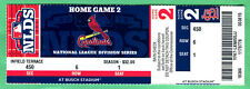 2012 NLDS PLAYOFFS GM #2 FULL TICKET-BELTRAN 2 HRS-WASH NATIONALS @ BUSCH