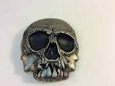 "Large Skull Belt Buckle 3.5"" x 4"" - Biker - Rocker - Goth"