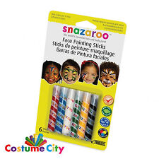 6 Piece Snazaroo Face Paint Party Make Up Unisex Face Painting Sticks Set