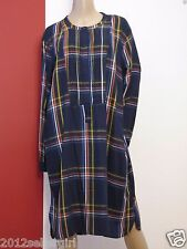 NWT OLD NAVY BLUE CHECKED PLAID LONG PULLOVER COMFY CAREER DRESS SHIRT SZ XXL