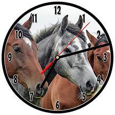 """8"""" WALL CLOCK - Horse 22 Horses Equestrian - Kitchen Office Bathroom Bar Bedroom"""