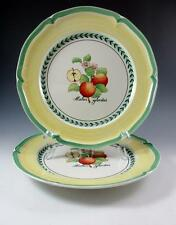 """Two (2) Dinner Plates in FRENCH GARDEN VALENCE by Villeroy & Boch - 10 3/4"""" EUC"""