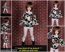 ☆RETRO LOOK CIRCLES☆Long T-Shirt #7 for [*Unoa Sist*]☆BJD doll MSD☆Narae☆