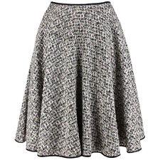 Giambattista Valli Pink Black White Silver Tweed Full Circular Skirt IT44 UK12
