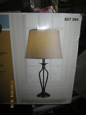 New Hampton Bay Rhodes 28 in. Bronze Table Lamp