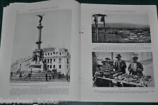 1930 magazine article about LIMA PERU, color photos, history, people etc