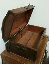 Baule in legno - Piccolo bauletto antico in legno - Shabby - Forziere vintage