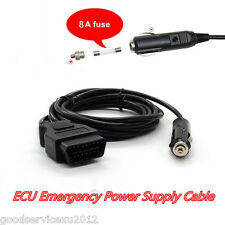 12V OBD2 Vehicle ECU Emergency Power Supply Cable Memory Saver Personal Setting