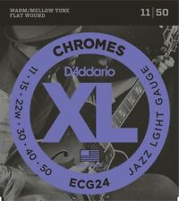 D'Addario Guitar Strings Set, Chromes, Jazz Light, ECG24