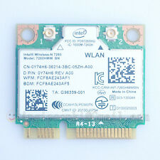INTEL 7260 WIRELESS-N MINI-CARD 7260HMW-BN WIFI + BT 4.0 COMBO DELL Y74H6 0Y74H6