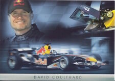David Coulthard Red Bull F1 Promo Card Un Signed Formula 1.