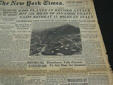 1944 MAY 21 NEW YORK TIMES - EISENHOWER TO GET DATA FOR INVASION - NT 4309