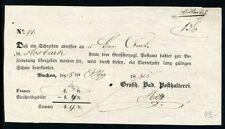 BADEN BUCHEN 1845 POSTSCHEIN(J1256