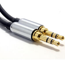 2m PRO BLACK 3.5mm Jack Male to Male Stereo Audio Cable Lead GOLD [006909]