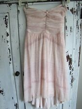 Free People Dress XS Strapless Asymmetrical Pale Pink Ladies Boutique s23