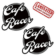 2 VINYL STICKERS CAFE RACER DECAL AUTO MOTO MOTORBIKE MOTORCYCLE RACE TUNING D51