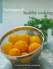 The Professional Chef's Techniques of Healthy Cooking Used Hard Cover