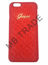 GENUINE GUESS SCARLETT COLLECTION LEATHER BACK CASE FOR IPHONE 6/6S COVER RED