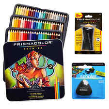 Prismacolor Colored Pencils Box Triangular Pencil Eraser And Premier Sharpener