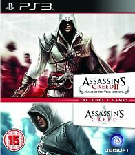 ASSASSINS CREED 1 & 2 GOTY 3 PS3 (PRE OWNED) (USED) Excellent Condition