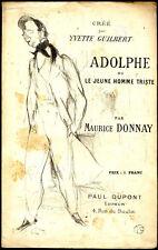 Lithographie, Toulouse-Lautrec: ADOLPHE  ou le Jeune Homme triste-1894-M. Donnay