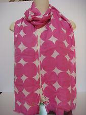 Kate Spade New York Balloon Dot Oblong Fringe Scarf Carousel Pink New