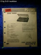 Sony Service Manual PS LX45 Turntable System (#1608)