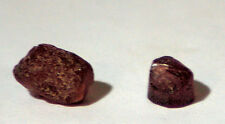2 Rhodolite Garnets 13carats facet rough red raspberry pyrope