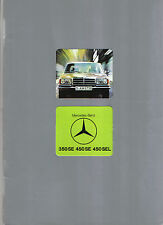 Mercedes Benz S Class 350SE 450SE 450SEL W116 1975-78 Original UK Sales Brochure