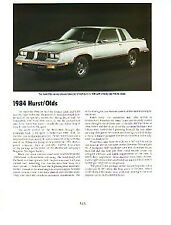1984 Oldsmobile Hurst Olds Article - Must See !!