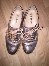 Odeon Gold Lace Up Shoes Size 5