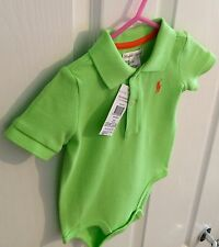 Ralph Lauren polo BabySuit Size 6M Green New With Tags
