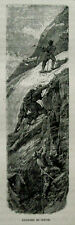 1894.Orig.Xilograf/Wood-Cut := ASCENSION DU CERVIN..=La  Svizzera Pittoresca.