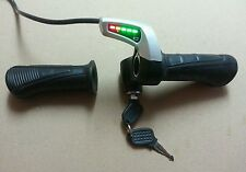 Universal Electric Scooter Bike Throttle w Indicator & lock switch 24 Volts