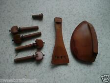 3 Sets Jujube Violin parts 4/4 including tail piece & chin rest & pegs end pin