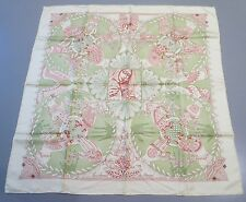 "HERMES SCARF CARRE MOUSSELINE ""LES CHANTS DE DU HENNE - NEW"