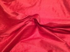 "10 Yards Coral/Red 100% Raw Silk Weave Dress Fabric 43 1/2"" Wide"