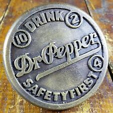 Drink Dr Pepper 10 2 4 Safety First Brass Sidewalk Marker for School Crossings