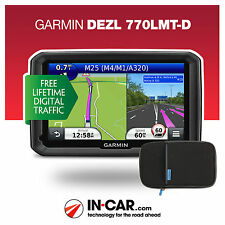 NEW Garmin Dezl 770 LMT-D Truck GPS Sat Nav HGV Lifetime Map and Traffic Updates