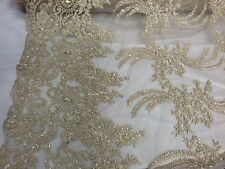 Dk.ivory French Design Metallic Embroider And Hand Beaded Lace.Wedding Lace.