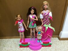 Barbie Sister Skipper Stacie Chelsea A Perfect Christmas Dressed Doll Stage Lot