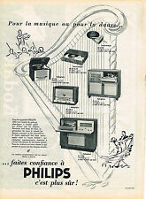PUBLICITE ADVERTISING   1954   PHILPS  radiophone  tourne disque