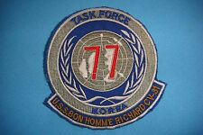 KOREA WAR BE PATCH, USS NAVY BONHOMME  RICHARD 77 TASK FORCE  CV-31