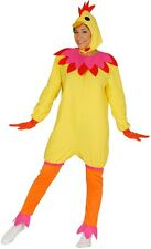 Ladies Yellow Chicken Duck Hen Bird Easter Chick Fancy Dress Costume Outfit