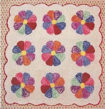 "Punchneedle Pattern by Graham Cracker ""Dresden Plates"" Lil' Punchneedl' Quilts"