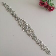 2016 New Crystal and Rhinestone Beaded Applique Bridal Belt Wedding Sash