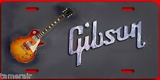 GIBSON LES PAUL ELECTRIC GUITAR ART ON LICENSE PLATE