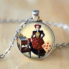 Red Queen Alice In Wonderland Jewelry chain Pendant Necklace