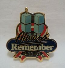 Walmart Lapel Pin Always Remember 9-11-01 Twin Towers September 9/11 Pinback